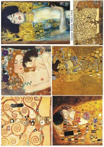 Papier do decoupage, Klimt