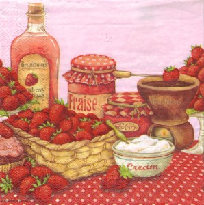 Serwetki decoupage Ambiente 13308420 strawberry flavor